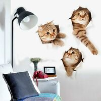 3d Cat Wall Sticker Animal Home Pet Shop Wall Decoration Picture Wall Sticker Bg