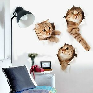 OZ-3D-Cat-Wall-Sticker-Animal-Home-Pet-Shop-Wall-Decoration-Picture-Wall-Sticker