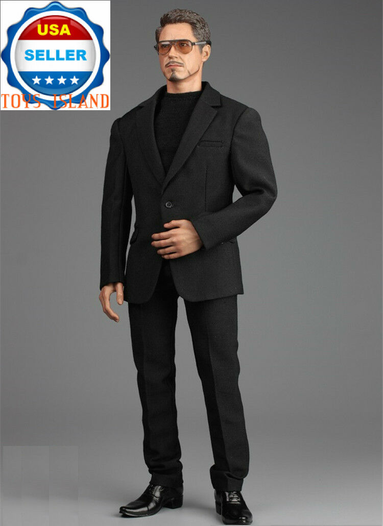 1 6 Business Suit Set with scarpe Sunglasses For 12  Hot Toys Male Figure ❶USA❶