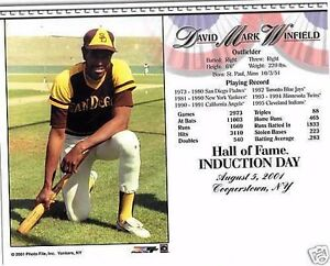 HOF Induction Day Card Photo- Dave Winfield- Padres
