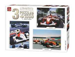 3 in 1 Triple Pack 1000 Piece Racing Cards Collection Jigsaw Puzzles 05213