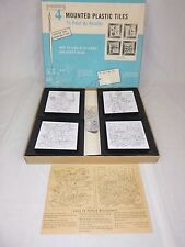 NEW Vtg Douglas Plymouth Paint By Number Plastic Tile Kit Asian Oriental Subject