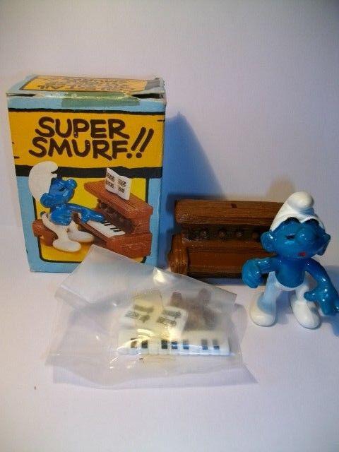 SMURF SCHLUMPF BOITE US SUPER SCHTROUMPF AU PIANO 4.0229 40229 ( 2 )