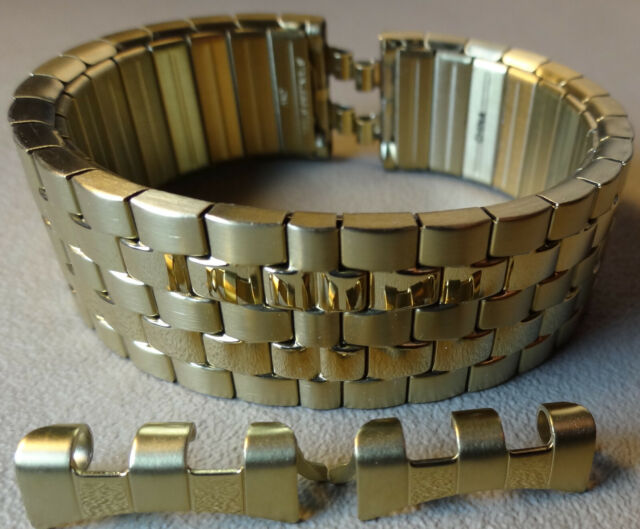 New Timex Easy Reader T2M656 Gold Tone Stainless Steel Expansion 18mm Watch Band