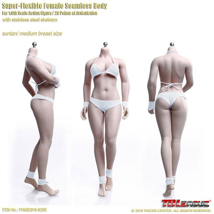 TBLeague 1 6 PHMB femelle 2019-S29B Bronzage Peau Mid Bust Sans Couture Body dolls toys