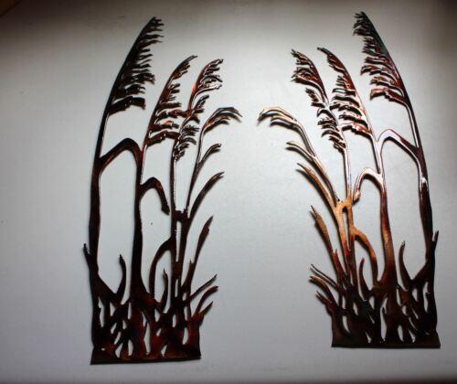 Sea Oats Style 2 Metal Wall Art Decor set of 2