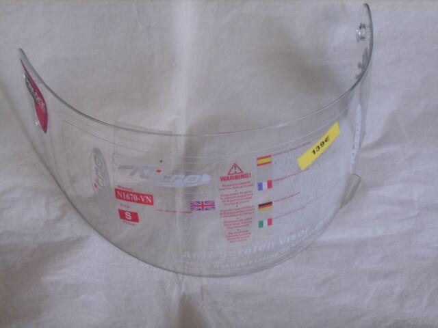 Visière de casque NITRO Pinlock N1670-VN anti-rayures taille S