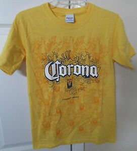 Corona-Extra-Beer-Cerveza-Yellow-Size-Small-T-Shirt-Licensed