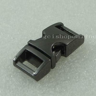 "3/8"" 10mm Side Curve Buckles Release 4 D ring Lanyard Bracelets Webbing Paracord"