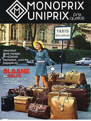 Novel Designs Delightful Colors And Exquisite Workmanship Publicite Advertising 014 1970 Monoprix Uniprix Valises Slaane De Salpa Famous For Selected Materials