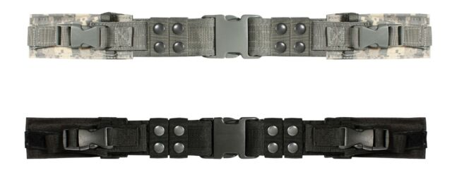 Deluxe Tactical Belt w/ Pouches Adjustable Black & Camo Military Hunting Belts