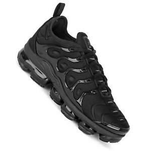 online store e5a30 f5ee7 Image is loading Nike-Air-Vapormax-plus-Black-Black-Grey-Men-
