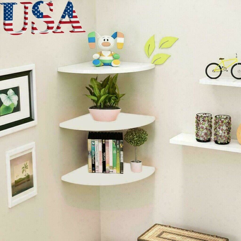 Dreamall Wood Wall Mounted Floating Ledge Shelf Shelves For Picture Books Decorations A Set Of 3 S 11 8 M 15 7 L 19 7 In Bedroom Living Room And Kitchen Beige Shipping Usa Home Decor Home Decor