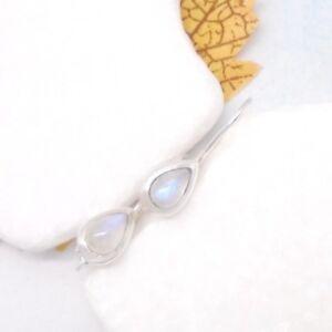 Mondstein-blau-weiss-Tropfen-Design-Ohrringe-Ohrhaenger-925-Sterling-Silber-neu