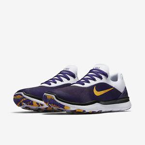09086b1145 Nike Free Trainer V7 Week Zero LSU Tigers Men's Shoes Purple Gold ...