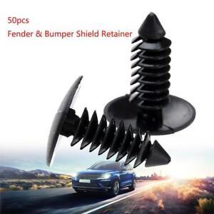 50x-Auto-Fastener-fit-8mm-Loch-Nylon-Clips-Fender-Stossfaenger-Schild-Behalte-C8T3