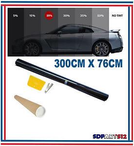 300cm-x-76cm-Film-Teinte-Solaire-Noir-Vitre-Fenetre-Velux-Voiture-Batiment-25