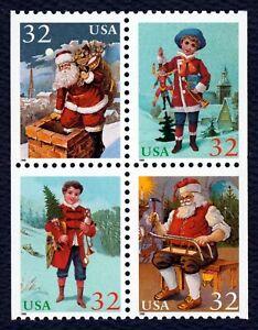 #3007a 32c Navidad 1995 , Bloque De Folleto, Nuevo Cualquier 5=