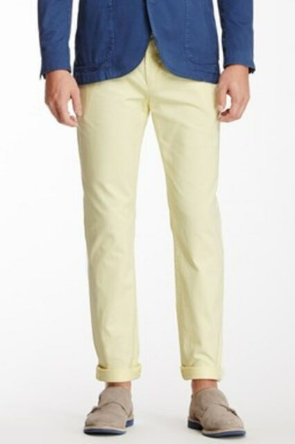 $175 JACK SPADE Dixon Slim Chinos TROUSERS Cotton Pants BANANA YELLOW ( 30 )