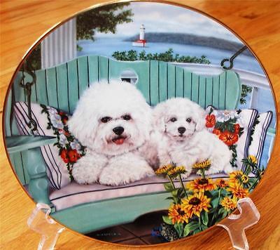 Danbury Mint BICHON FRISE Swing Set Limited Edition Plate