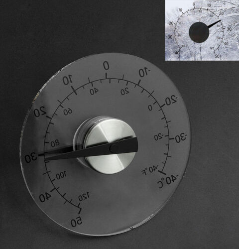Clear ℉ ℃ Circular Outdoor Window Temperature Thermometer Weather Tool New
