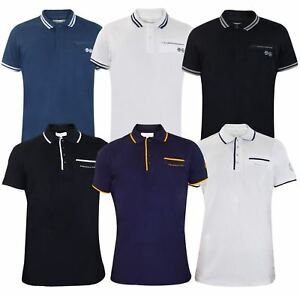 Mens-T-Shirts-Crosshatch-PK-Polo-Shirt-Pocket-Pique-Tees-Tops-Multi-Color-M-2XL