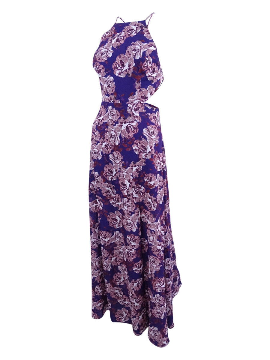 Fame and Partners Wome's Floral-Print Backless Dreamer Gown