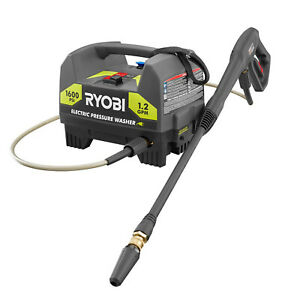 1600-PSI-ELECTRIC-PRESSURE-WASHER-RYOBI-1-2-GPM-Power-Washer-with-Turbo-Nozzle