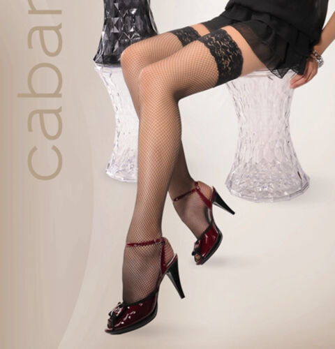 "Black OR White Fishnet HOLD UPS /""Marie/"" lace top"