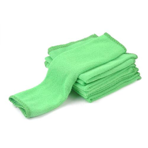 10 Pcs Microfiber Washcloth Auto Car Care Cleaning Towels Soft Cloths Green nEW