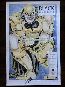 Black-Hammer-Art-Print-SIGNED-Jeff-Lemire-SDCC-2017-Diamond-Retailer-Exclusive