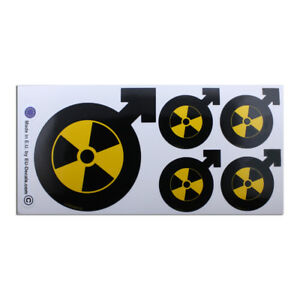 X5 Male Symbol Radioactive Laminated Decals Stickers for Vespa GTS GTV GTL