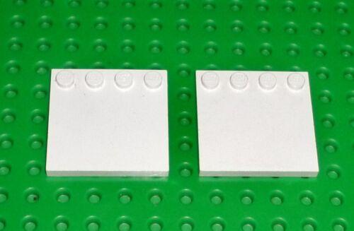 6179 4 X 4 con tachuelas en el borde modificado X 2 WT45 Lego-Blanco-Azulejo