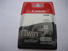 ORIGINALE Canon twinpack 2 x pg-525bk PGBK 525 for Pixma ip48050 4650 ix6550 OVP