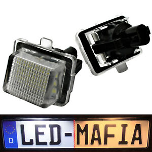 Mercedes-Benz-W212-S212-C207-W221-LED-Kennzeichenbeleuchtung-Module-6000K