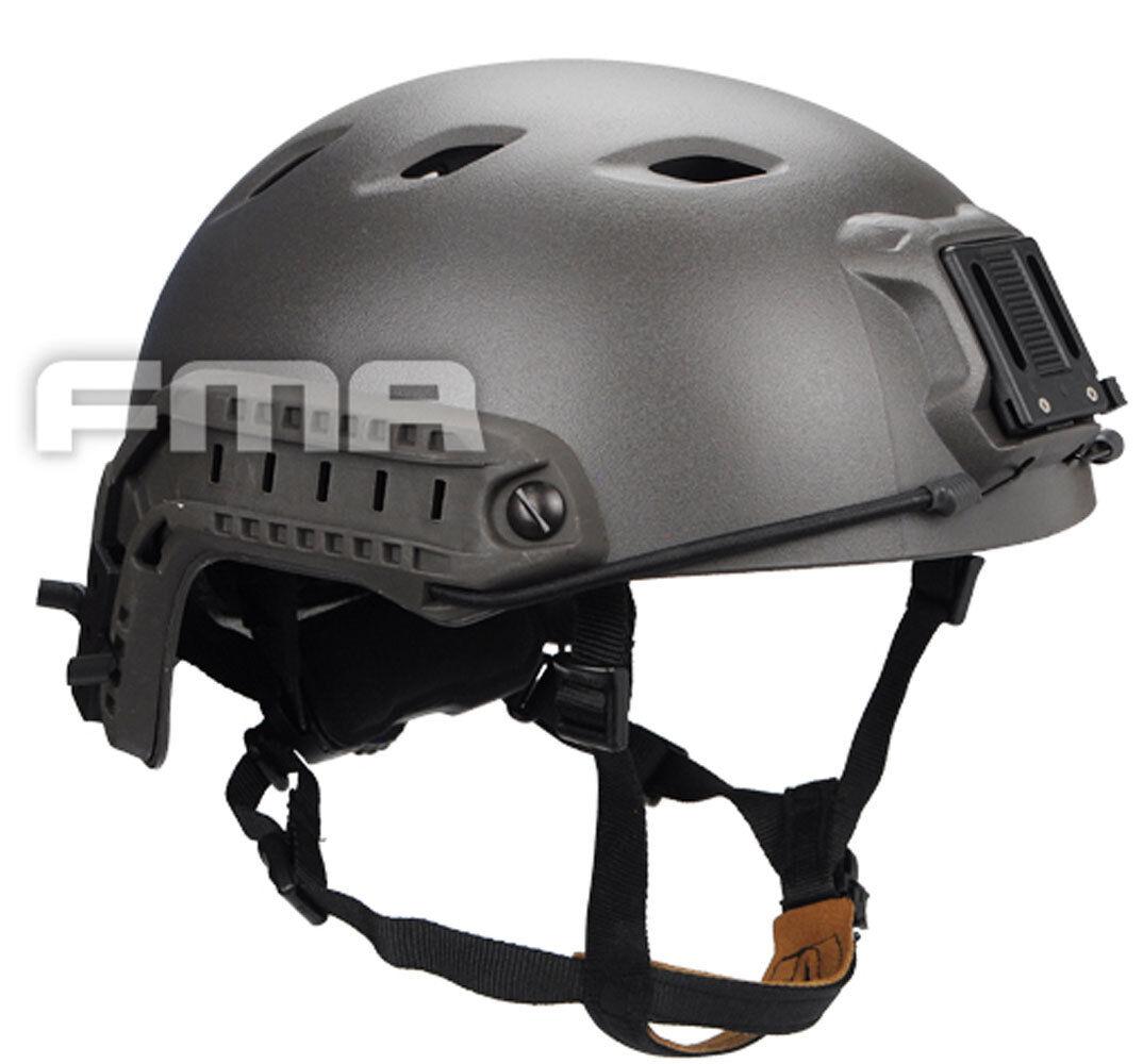 COOL Airsoft CS Protective FMA ACH Base Jump Helmet Mass Grey TB1053 LXL