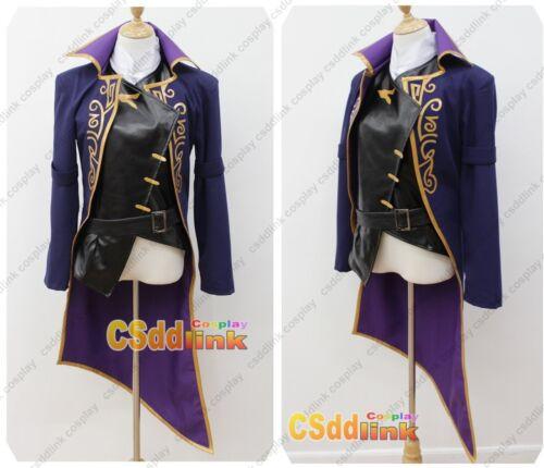 Dishonored 2 Emily Cosplay Costume black /& purple