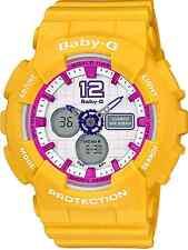 Casio Baby-G BA120-9 Sporty Fashion Ladies Analog Digital Yellow Resin