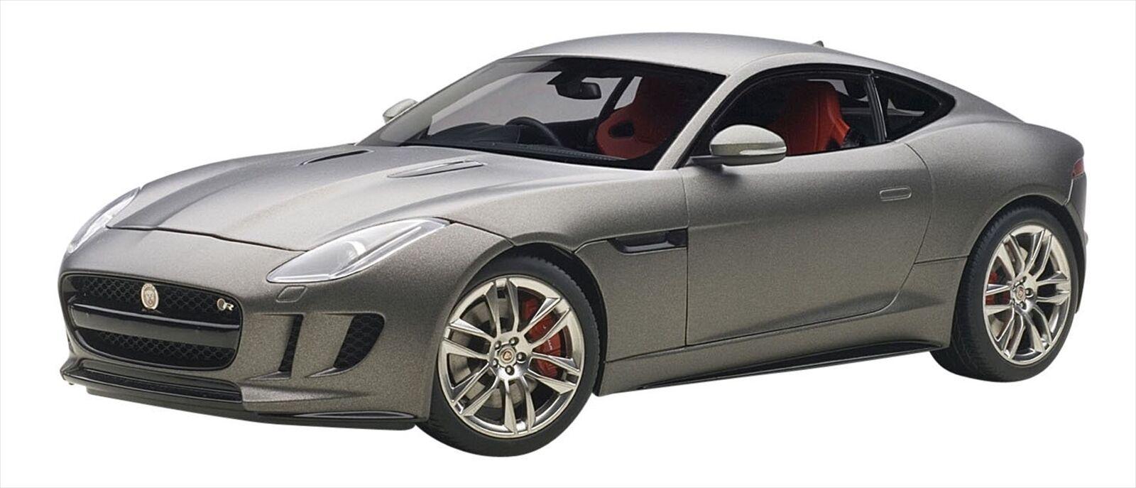 AUTOart 1 18 Jaguar F-Type R Coupe 2015 Matt gris Diecast Model 73654