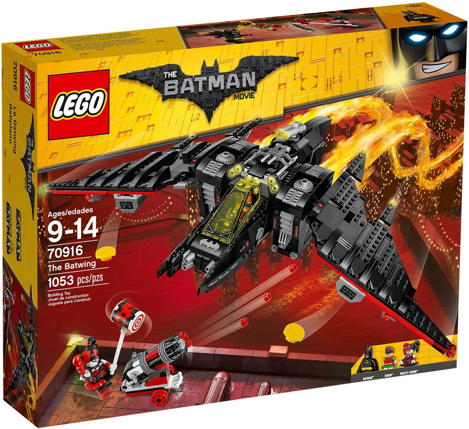 LEGO THE BATMAN MOVIE SUPER HEROES 70916 IL BATWING NUOVO Misb