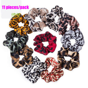 11 pcs/set of chiffon hair scrunchies ponytail holders