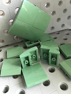 LEGO White Smooth Tile Plate With Bow 1X2X2//3 Friends Roof Floor Lot Of 24 New