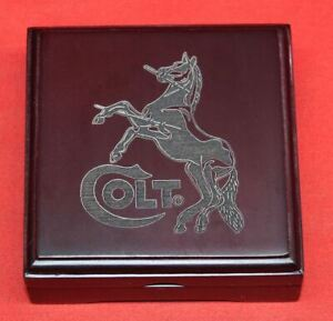 COLT-Firearms-Wood-Medallion-Challenge-Coin-Display-Box