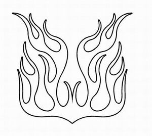 Flame Outline Decal 31 Vinyl Graphic Hood Car Truck Suv
