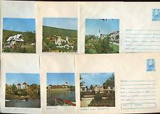 Romania 1975, 6 Unused Stationery Pre-Paid Envelopes Covers #C21416