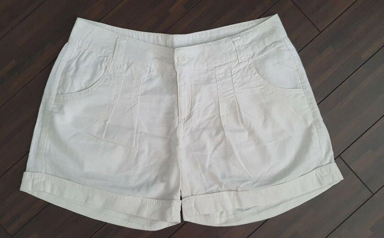 Bench Shorts Damenshorts Hotpants Gr. 27 Weiß Baumwolle