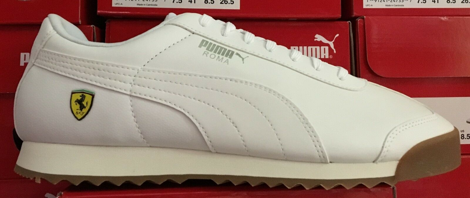1e6a91f5d PUMA SF Roma Men s Running Casual Sneakers Puma White 306083 06 L ...