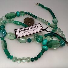 Sterling Silver Beaded Necklace - Turquoise Silver