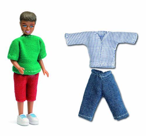 Lundby ™ 60.8048 Smaland chico con ropa para casa de muñecas en 1:18