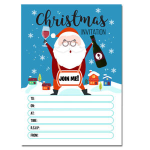 Details About 20 X Christmas Party Invitations Xmas Invites Cards Kids Adult Girls Boys